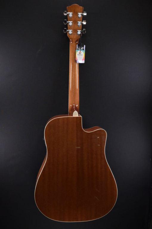 Western-Gitarre für Linkshänder mit Tonabnehmer und Cut
