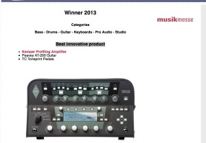 14th mipa - Musikmesse International Press Award - Winner2013