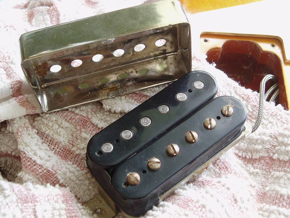 medium resolution of gibson les paul pickup cover remove