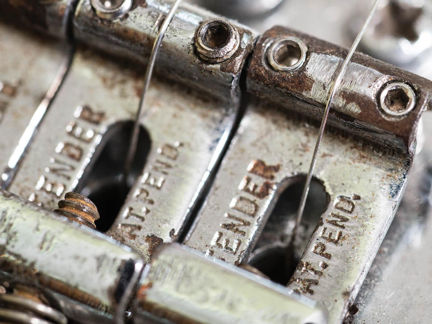 hight resolution of vintage fender stratocaster saddles bridge