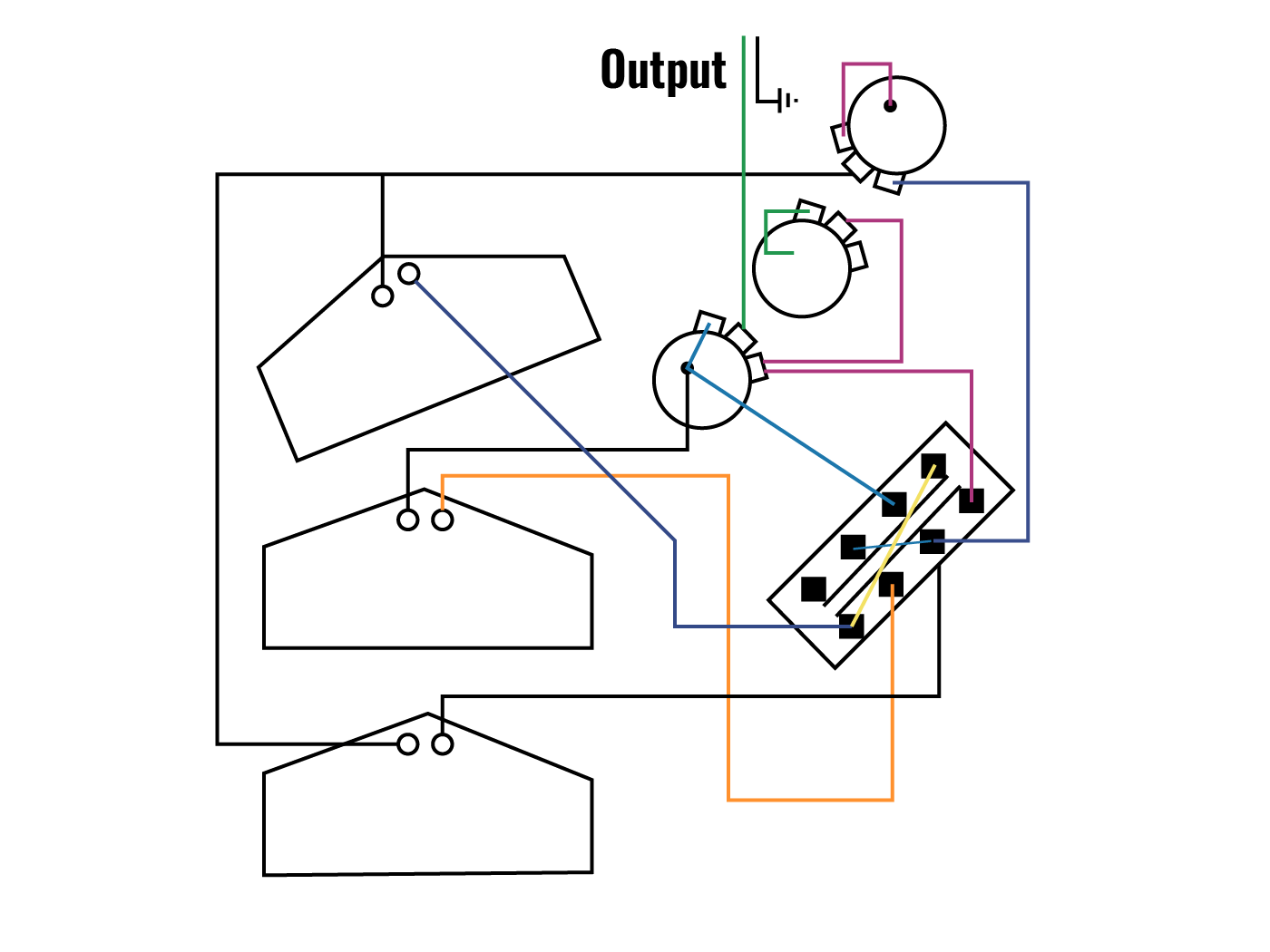 hight resolution of stratocaster dan armstrong mod wiring circuitry diagram
