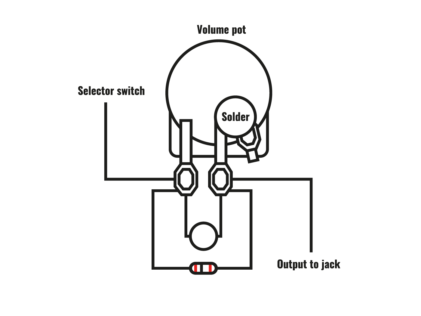 hight resolution of treble bleed cap wiring