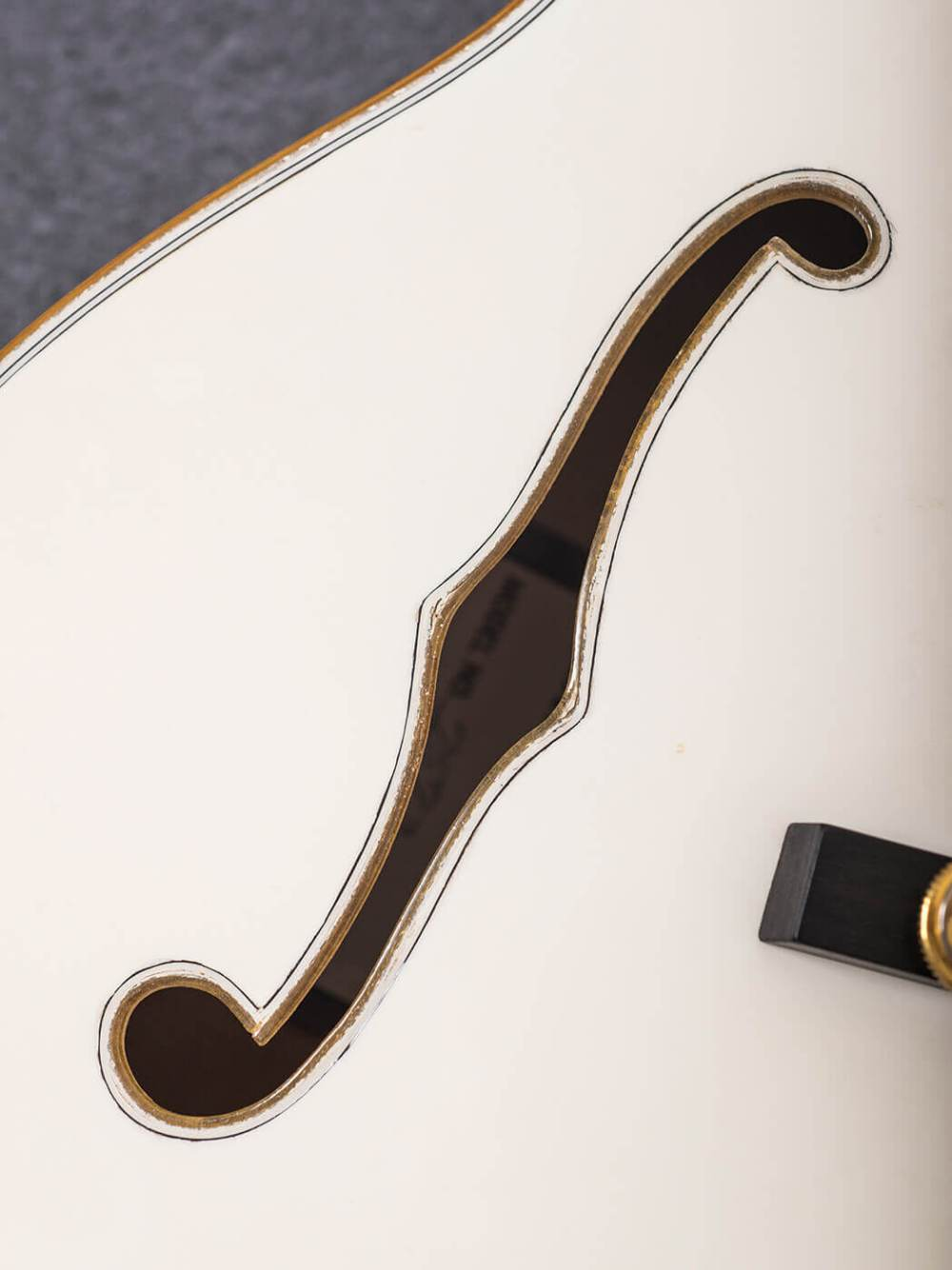 medium resolution of f hole on white falcon gretsch