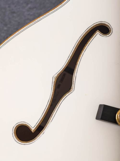 small resolution of f hole on white falcon gretsch