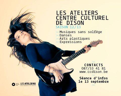 Les ateliers du Centre culturel de Dison 2012-2013