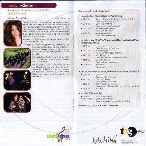 Programme MusikNacht