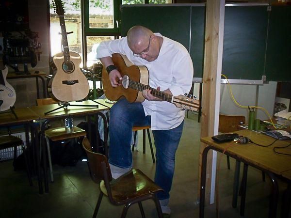 Test des différentes guitares (Ifapme)