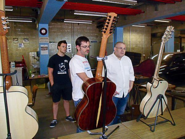 Présentation des guitares de 3ème année (Ifapme)