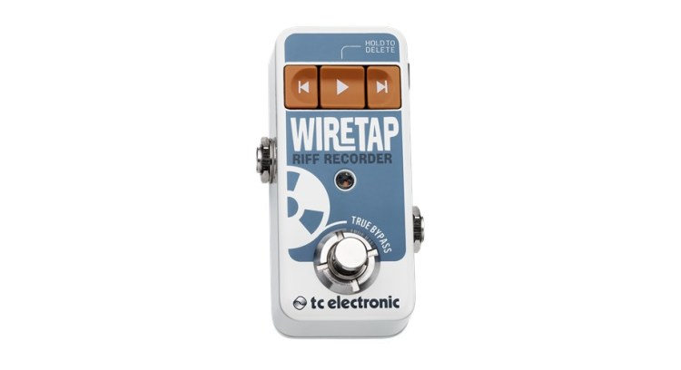 TC Electronic Wiretap Riff Recorder - le bloc-notes en format pédale