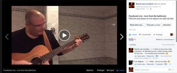 Facebook live - from my salle de bain