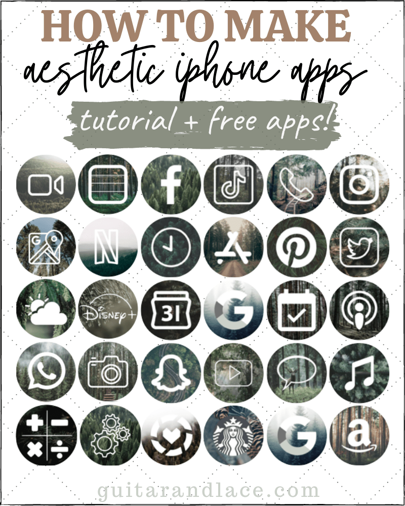 how to make aesthetic iphone app icons guitar lace how to make aesthetic iphone app icons