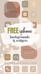 Free Aesthetic iPhone Backgrounds & Widgets Guitar & Lace