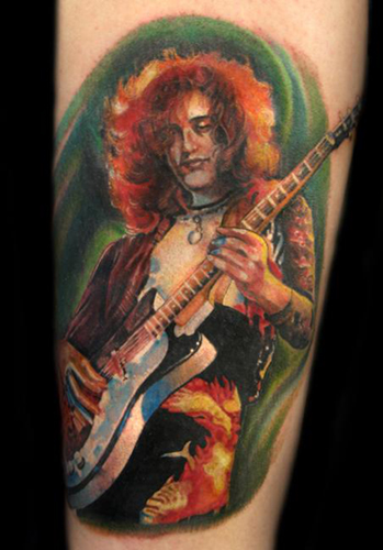 5 jimmy page tattoo