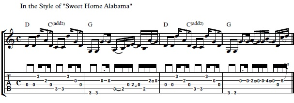 Best rock guitar riffs • strum patterns, full songs, tab, chords, video lessons. How To Play Sweet Home Alabama Intro On Guitar Guitar Control