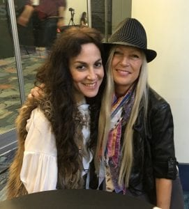 Steph Paynes of Lez Zeppelin and Che Zuro at NAMM 2017