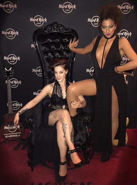 Michelle Queen and DJ Silla Tha Thrilla at Hardrock Cafe Las Vegas