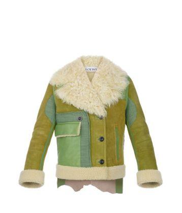 Loewe shearling patchwork jacket
