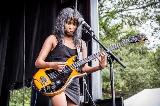 Asha Lakra from A Drug Called Tradition at PBR Fest Atlanta Oct 2017 - photo by Will Goicochea