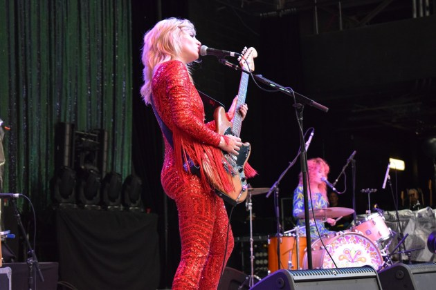 Lindsey Troy of Deap Vally at Chastain Park ATL