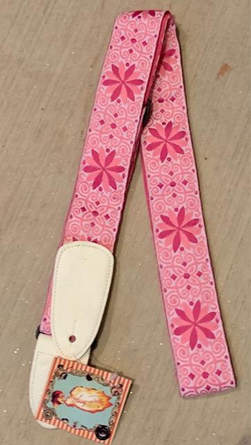 henry heller pink guitar strap