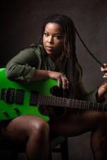 Guitar Gabby with ESP guitar
