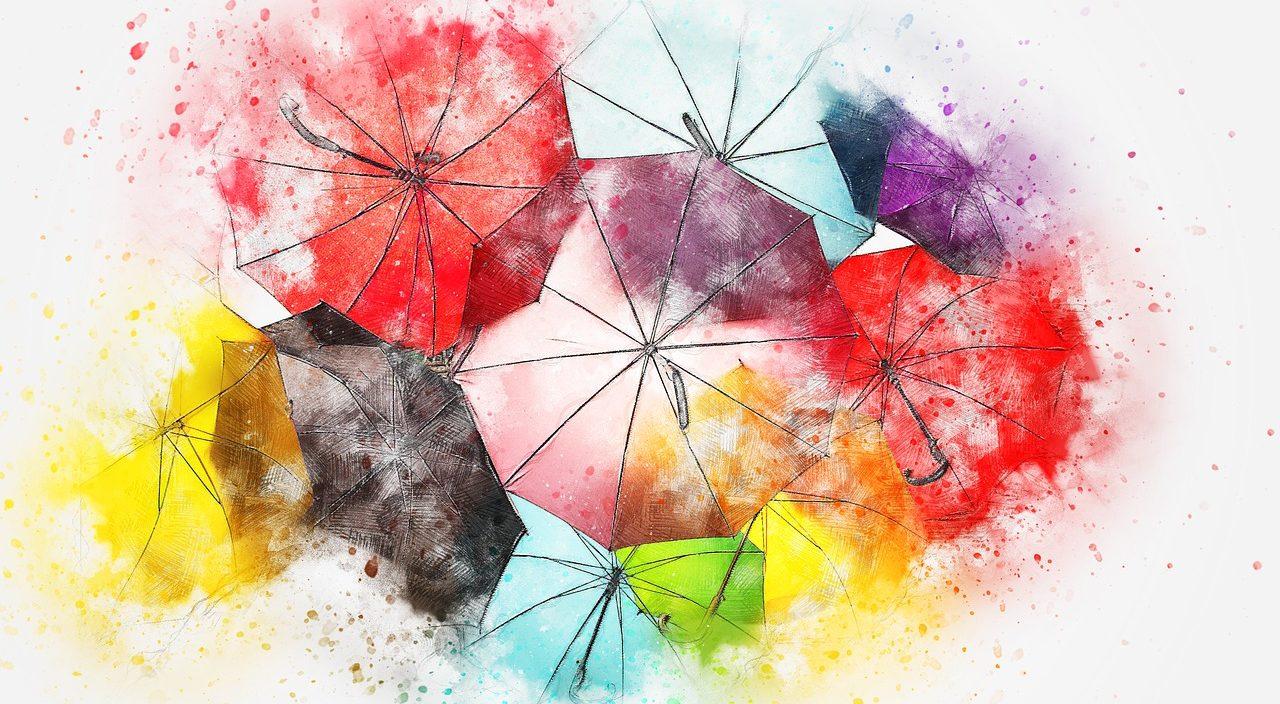 カラフルな傘たち