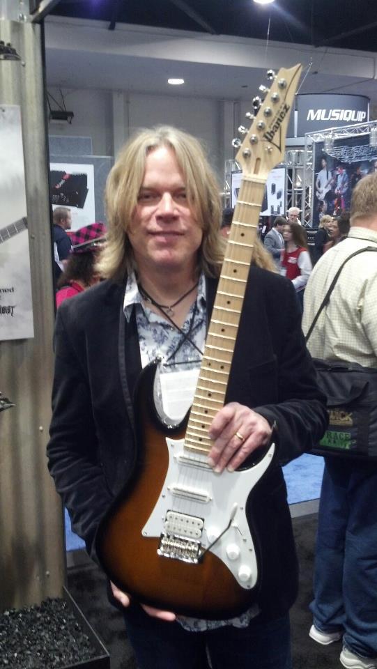 Andy Timmons новый именной Ibanez на NAMM 2013