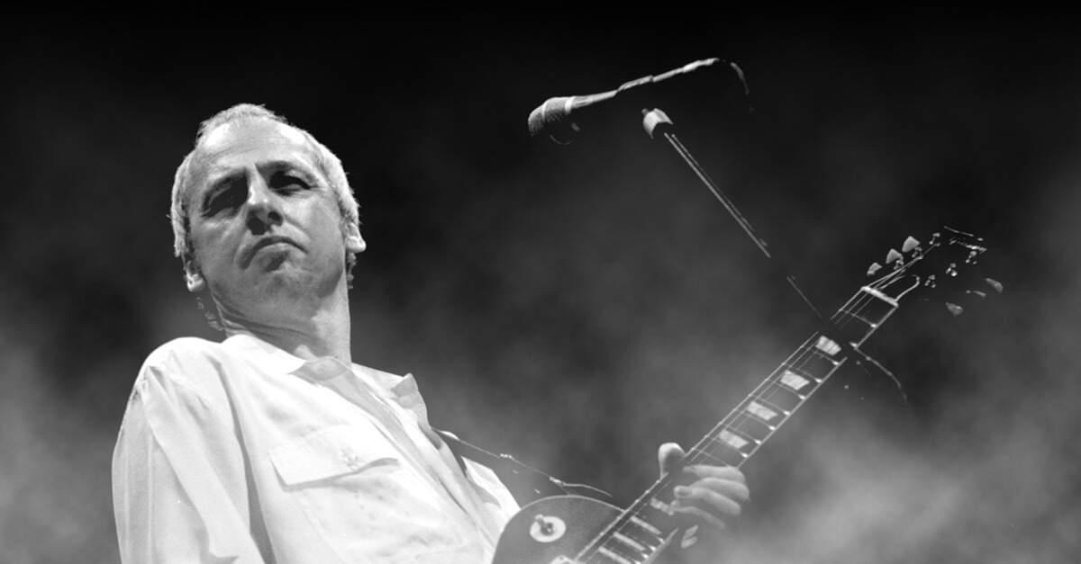 Mark Knopfler tocando uma Les Paul