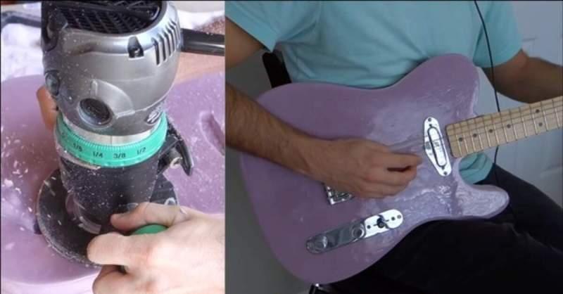 Foto da guitarra mais leve do mundo