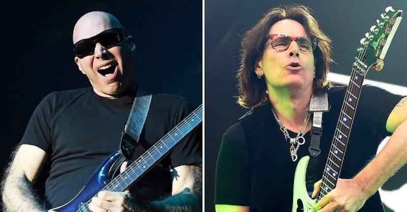 Joe Satriani ao lado de Steve Vai
