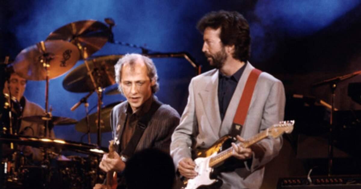 Mark Knopfler tocando com Eric Clapton