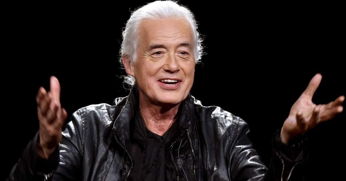 Jimmy Page gesticulando