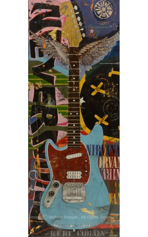 Kurt Cobain Guitar Sonic Blue Fender Mustang
