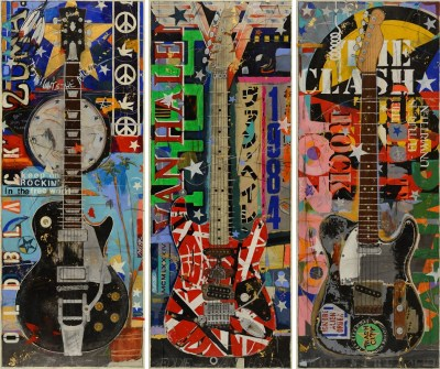Original Paintings of Famous Guitars by Artist Michael Babyak