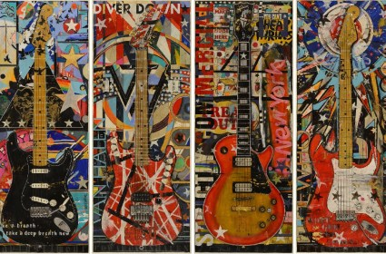 Original Star Guitar Paintings