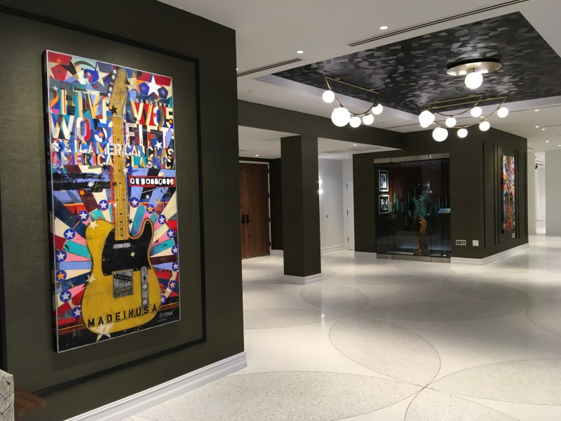 Telecaster Painting Hard Rock Hotel Daytona Beach