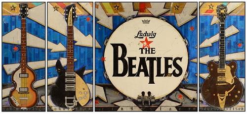THe Beatles Ed Sullivan Painting