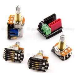 emg solderless wiring kit 1 or 2 dual mode pickups short shaft w 654330800689 [ 1600 x 1600 Pixel ]
