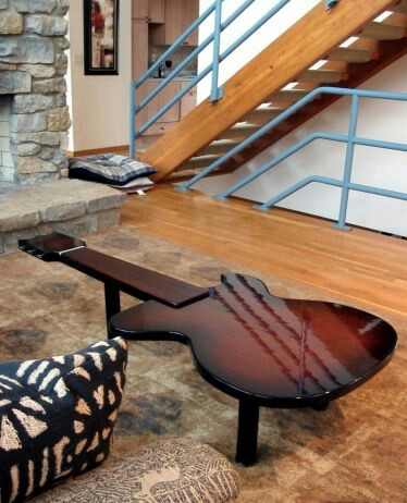 guitar shaped chair antique barber value table
