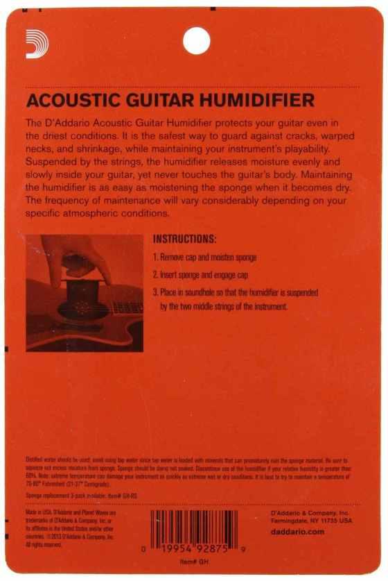 Humidificador para guitarra Planet waves GH