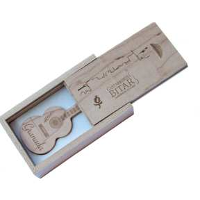 USB Guitarra madera