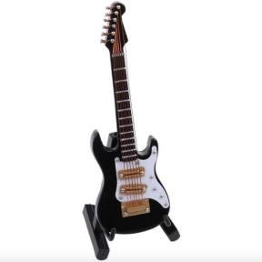Miniatura guitarra eléctrica negra
