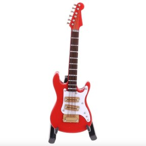 Miniatura guitarra eléctrica roja
