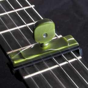 Cejilla artesana resina verde