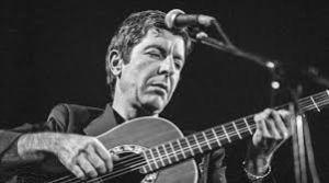leonard cohen tocando guitarra