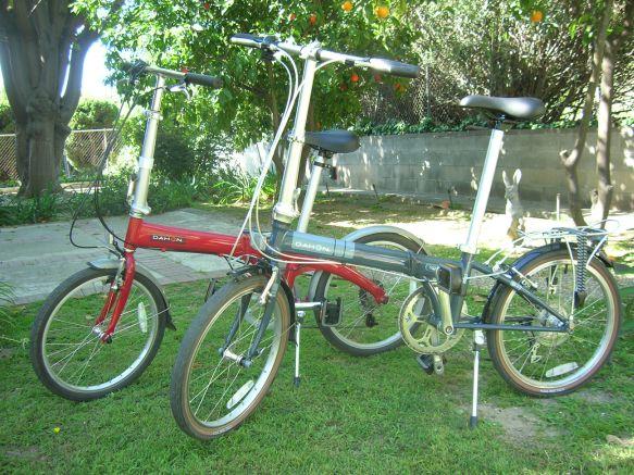 Two Dahon folding bikes