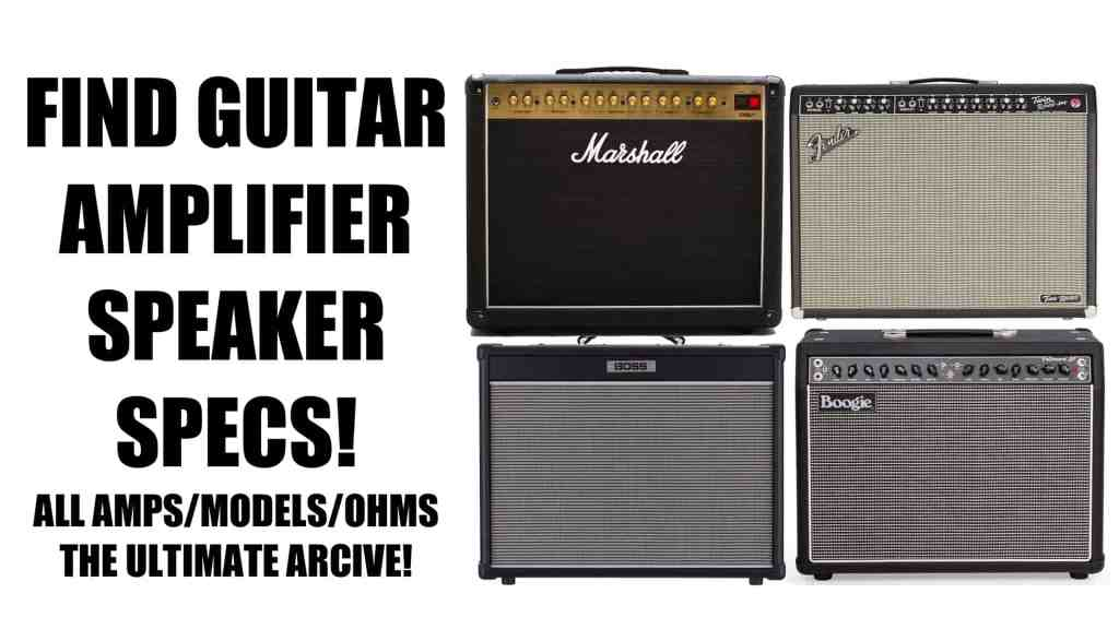 Guitar Speaker by Amplifier, Size, and OHM Rating