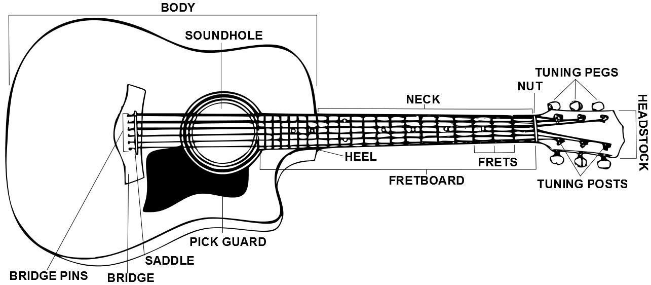 electric guitar diagram