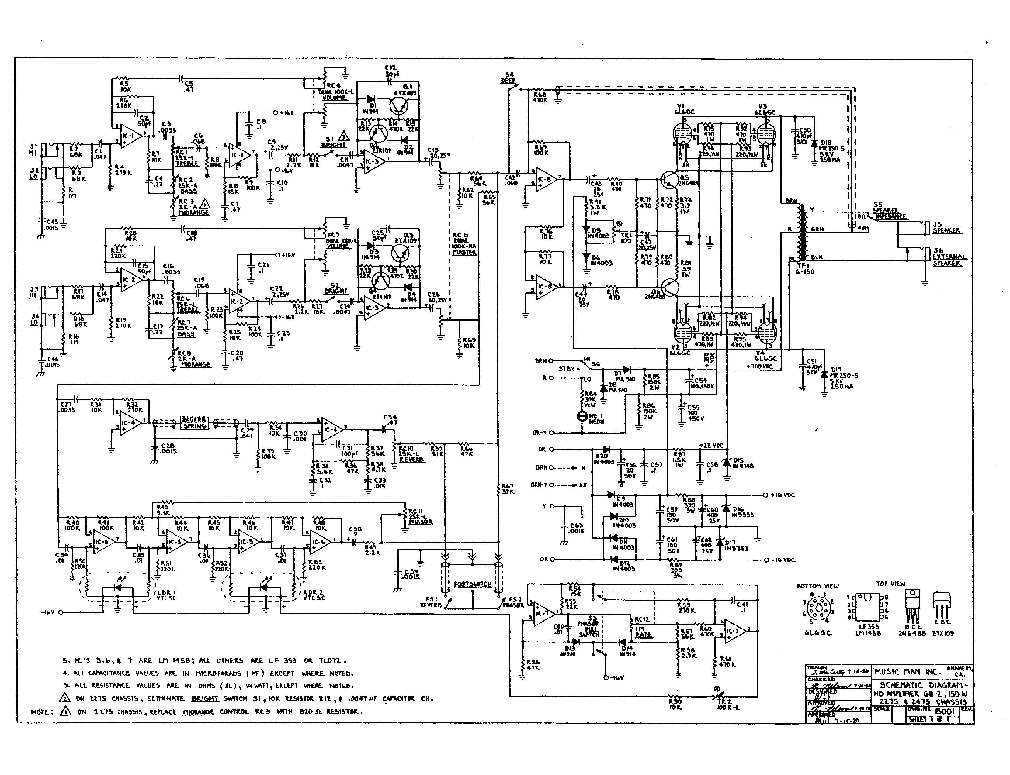 Vintage Magnatone Amplifier Schematic Auto Electrical Wiring Diagram Related With