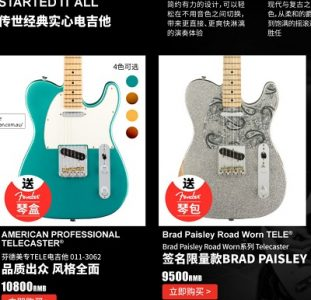 Fender Opens Online E-Commerce Store
